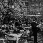 A Hangli-kioszk a Vigadó téren. Budapest, 1940